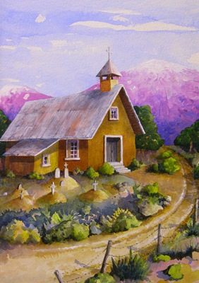 Country Church, New Mexico - A