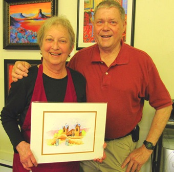 Darlene with Chimayo Painting