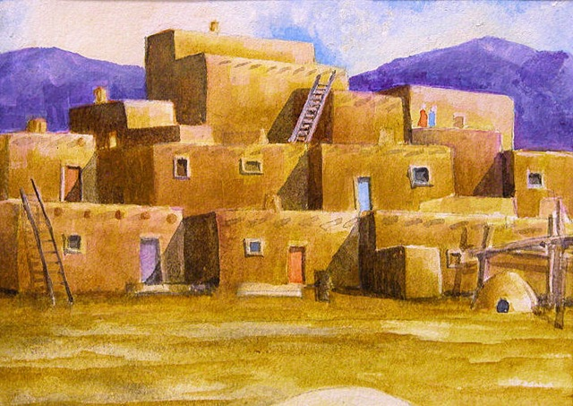 New Mexico Pueblos Art By Robert Yackel