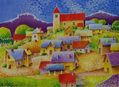 Village Church on Hill Bobism - A