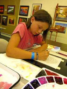 Jasmine at Paint Day