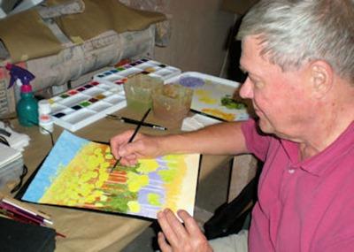 Bob Painting on Tuesday - B