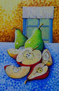 Pears and Window - B