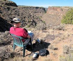 Bob Sketching - Rio Pueblo - B